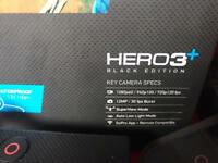 GoPro Hero3+ Black Edition with remote and accessories