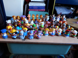 Little people from Fisher prices shorted characters and animals