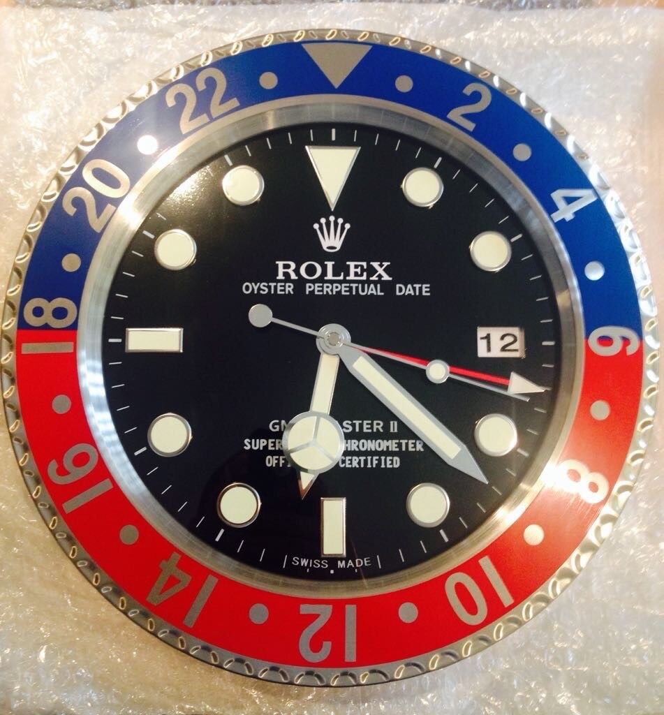 Rolex wall clock big metal clock pepsi gmt in leeds city rolex wall clock big metal clock pepsi gmt amipublicfo Image collections