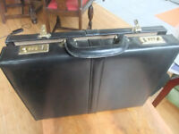 Black Leather Business Bag Briefcase