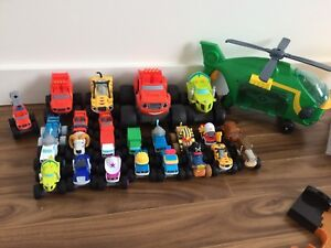 Various Blaze & the Monster Machines trucks and playsets