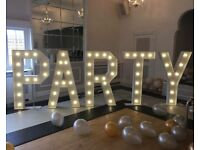 ***Giant PARTY letters for hire***