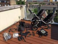 Baby Jogger City Select double pram with lots of extras