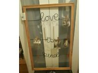 Love is kind picture peg frame