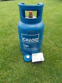 GAS BOTTLE CALOR 7KG PLUS REGULATOR READY TO REFILL FOR YOUR HOLIDAYS OR BBQ's