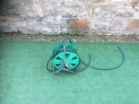 Hoselock hose pipe on metal reel