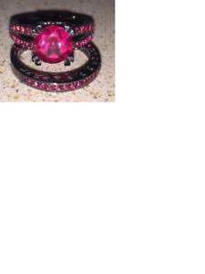 14k black gold eng/wedding rings SOLD!