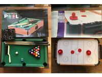 Mini Pool Table + Air Hockey Table