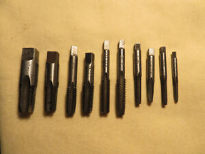 (10) vintage TAP & DIE Threading Bits