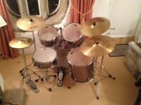 Drum Kit (Pearl Forum w/ Paiste and Zildjian cymbals)