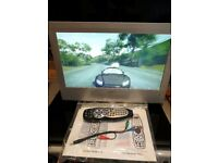 """Cello 19"""" LCD TV With built in digital tv complete with remote and 12v power supply"""