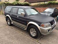 LHD - LEFT HAND DRIVE - 2007 UK REGISTERED MITSUBISHI PAJERO SPORT / SHOGUN - 3.0 PETROL / LPG GAS