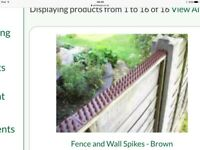 Spikes for top of fence to prevent cats and foxes coming into your garden
