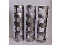 3 Stainless steel wine racks