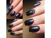 Nails extension, shellac gel polish and gel maintenance