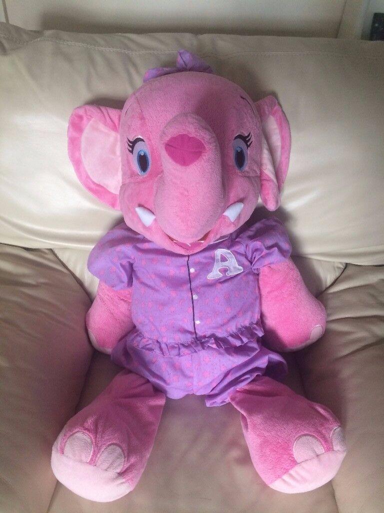 Large Pink Elephant Soft Toy