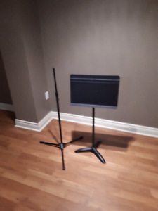 Sheet Music Stand and Microphone Stand
