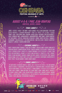 Osheaga Festival Pass Tickets -  3 Day