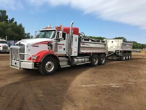 2006 Kenworth t800 gravel truck with pup