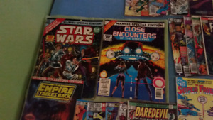 Comics books from mid 70's to mid 80's in fair condition.