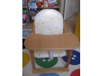 Highchair / chair and desk