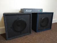 Marshall 9000 Stereo Guitar Power Amp + Speaker Cabinets (Celstion G12)
