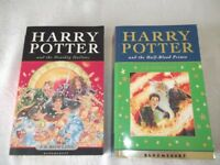 HARRY POTTER and the half-blood prince & HARRY POTTER and the deathly hallows PAPERBACKS