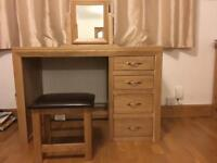 Oak Dressing Table Set