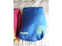Children's hi gear boom sleeping bags. Hardly used. Comes in backpack style bags.