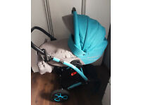 Pram and pushchair in one plus car seat