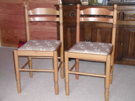 Two dining chairs in excellent condition.