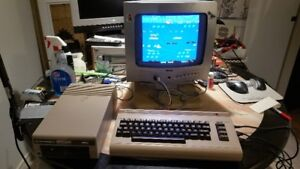 Vintage Commodore 64 with 1541 and TV
