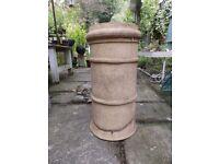 Vintage Light Clay Chimney Pot