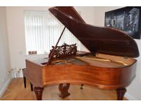 Beautiful Grand Piano - Hornung & Moller - Excellent Sound Quality - Mahogany