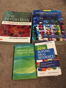 Practical nursing textbooks and supplies