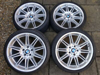 "Full set of genuine BMW 225M MV4 19"" staggered alloy wheels with tyres"