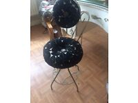 Hollywood boudior/bedroom chair very rare with metal legs