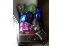 JOBLOT Empty Collectable Tins ideal for storage of cakes/biscuits/sweets