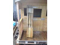 6 x decking posts 80x80 4 ft 2 inches tall or stair case
