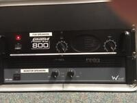 Carlsbro Powerline 800 Power Amp for PA Speakers - Stereo Powered Amplifier In New Condition