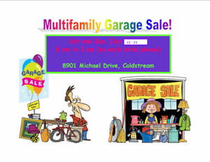 CONTINUATION OF MULTIFAMILY GARAGE SALE (TWO DAYS)