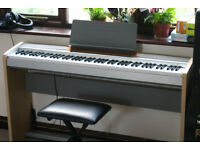 Casio Privia PX-120 Digital Piano with stand, foot pedals; hammer action keys - read description
