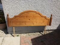 Pine headboard to fit king size bed