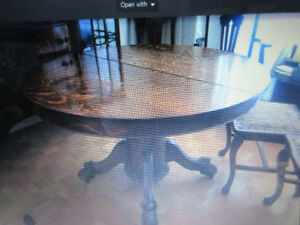 Antique Dining Room Set Tiger Wood Oak