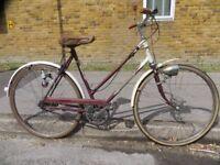 Classic Vintage Ladies Town Bike.. Triumph