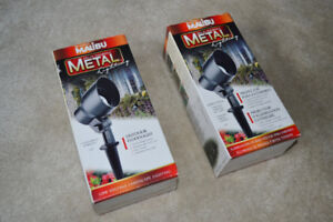 2 Metal Landscaping Outdoor flood lights NEW IN BOX