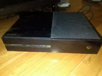 Xbox one 500gb, one white controller all leads