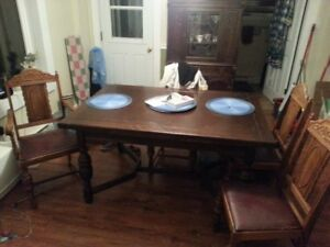 100+ yr old Solid Wood Dining room set