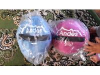 Two brand new unused Andes kids sleeping bags