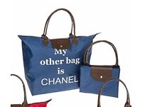 8 x Eco Shopping bags 'My Other Bag is Chanel' Great perhaps for a car boot, shop etc